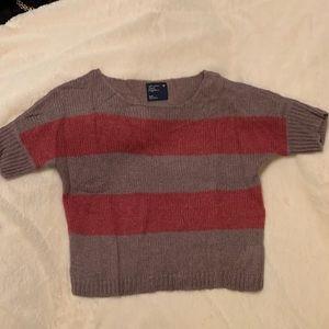 Oversize scoop neck short sleeve sweater